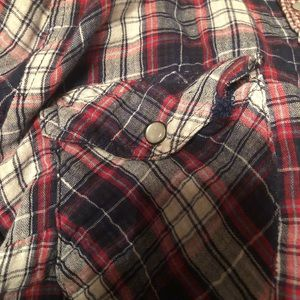 Tops - Red white and blue woman's flannel